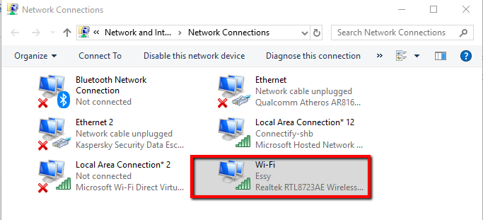 WiFi doesn't have a valid IP