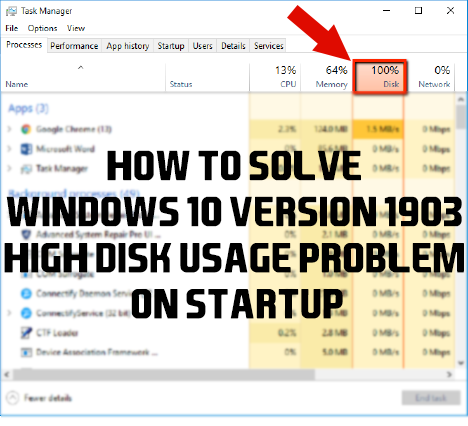 100 disk usage windows 8.1 on startup